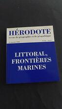 Géographie géopolitique Hérodote n°93 1999 littoral frontières marines