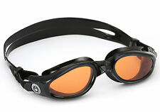 Aqua Sphere Adulto Caimán Naranja Discos Gafas de Nadar Negro