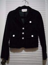 BCBG Max Azria Jean Black Velvet Jacket Size XS blazer coat Cotton