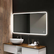 800x600 mm LED Illuminated Bathroom Mirror [IP44]  with Touch Sensor Switch