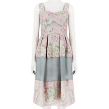 Erdem Runway Collection Floral Jacquard Strapped Ashlyn Dress UK10 IT42