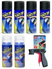 Plasti Dip Gloss Black Rim Kit - (4) Matte Black, (2) Glossifier, (1) Can Gun
