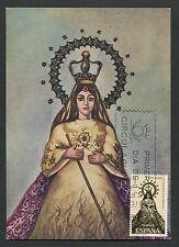 SPAIN MK 1965 PHILIPPINEN MADONNA MAXIMUMKARTE CARTE MAXIMUM CARD MC CM d4106