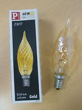 Paulmann Kerzenlampe ROYAL gedreht GOLD E14 40W 565.47 Glühlampe Kerze