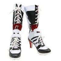 Batman DC Comics Suicide Squad Harley Quinn Cosplay Boots High Quality Costume *