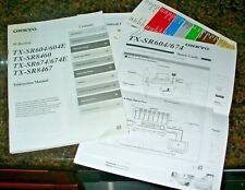 New listing Onkyo Av Tx-Sr604 Sr8460 Sr674 Sr8467 Receiver Owners Instruction Manual w/quick