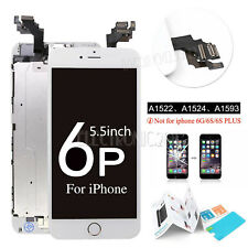 "OEM White For iPhone 6 Plus 5.5"" Touch LCD Digitizer Screen Replacement + Button"