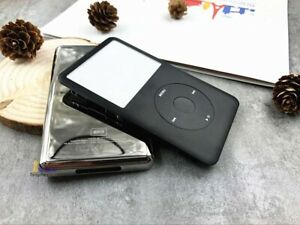 black faceplate metal back case housing click wheel for ipod 6th classic 80gb
