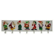 Snow White 7 Seven Dwarfs Coat Hanger Hook Disney Dwarves Rack Children