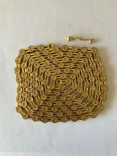 CLEARANCE 11 Speed Light Weight Gold Chain. MTB Mountain Road Bike. 116 Links.