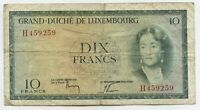 Grand Duche de Luxembourg Currency Note - Dix 10 Francs - Paper Money BC446