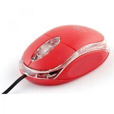 Mouse Ottico Con Filo Usb 3.0 Con Led Rosso Pc Notebook hsb