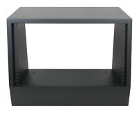 "Black 6u angled 19"" inch wooden rack unit/case/cabinet for studio/DJ/recording"