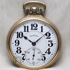 10k Gold 1923 Illinois Bunn Special 21 Jewel RAILROAD Grade Pocket Watch 16s USA