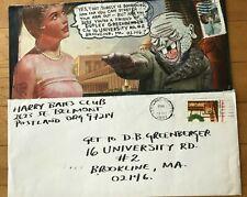 MAIL ART Blaster Al Ackerman Harry Bates Club 2 envelope correspondence 1980+82