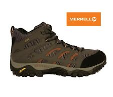 MERRELL MOAB MID GORE-TEX GREY BLACK WATERPROOF VIBRAM WALKING HIKING BOOTS MENS