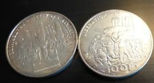 2 PIECES ARGENT 100 FRANCS 1994 LIBERATION DE PARIS CHAR ROMILLY