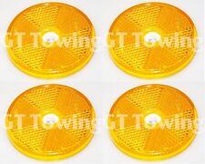 4 X Genuino Ifor Williams Remolque Naranja/Ámbar Redondo lado Reflector-P0691