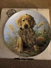 Knowles Caught In The Act The Golden Retriever Plate In Box With Coa