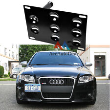 Front Bumper Tow Hook License Plate Mounting Bracket Holder For Audi S4 S5 S7