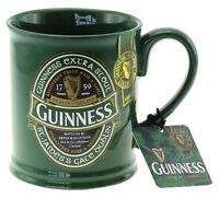 Guinness Label Tankard Mug Green Ireland Glossy Finish Ceramic Mug Round Handle
