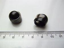 2 x Lego black motorcycle helmets & clear visor – 4298619 & 4626724 (Parts)