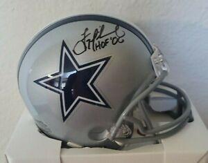 Troy Aikman Autographed/Signed Dallas Cowboys Mini Helmet w/inscription COA