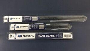 Subaru 2013-2017 Crosstrek Front & Rear Windshield Wiper Blade Set Genuine OEM