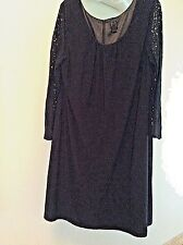 Heidi Weisel Black Dress Size 1x with lace sleeves