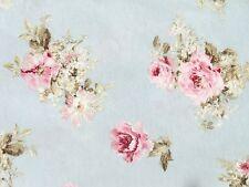 Romantik kleine Rosen Stoff Landhaus Rosenstoffe rosa hellblau Bezugsstoff
