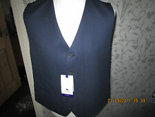 CHESTER BY CHESTER BARRIE BIRDSEYE BLUE WAISTCOAT SIZE 46R NEW RRP£100.00