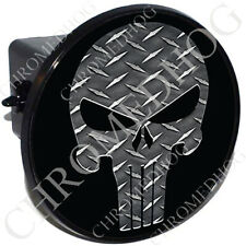 """2"""" Tow Hitch Receiver Cover Plug Insert Most Truck & SUV - DP Punisher Skull B"""