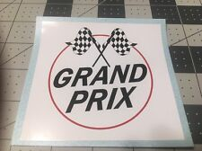 "Grand Prix Mini Bike USA Version White Background Red & Black 4"" Decal"