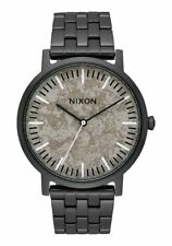 NIXON Unisex 40mm Nixon The Porter Black Stainless Steel Watch A1057 2687 NEW!