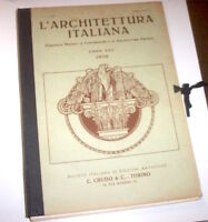 L'architettura Italiana - 1^ ed. CRUDO 1930 - ANNATA COMPLETA