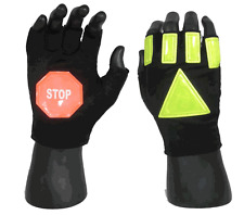 24/7 Reflective Traffic Safety Gloves with Stop Sign- Fire,Police,Crossing Guard