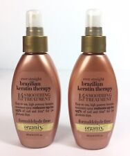 2x ORGANIX OGX Straight  Brazilian Keratin Therapy 14 Day Smoothing Treatment