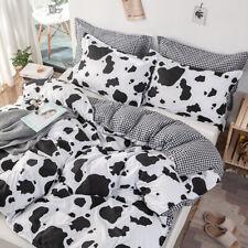 Cow Print Bedding Sets Duvet Quilt Cover Set Double King All Size 3 Pcs/Set