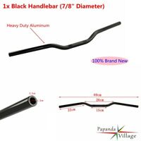 "7/8"" Motorcycle Tracker Bars Handlebars Dimpled Fit Harley Dyna Sportster Black"
