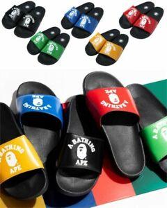 A BATHING APE Men's Slide Sandals COLLEGE SLIDE SANDALS Fast Shipping From Japan