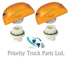 Pair of DAF LF45, LF55 Side Indicator Lamp with Bulb Holders - LH & RH