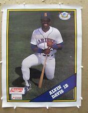 1989 Seattle Mariners ALVIN DAVIS baseball poster Fletcher Red Apple near mint+