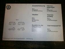 VW Bus T2 Zusatzheizung BA6 Bedienungshinweise 0.00560.198.88 Ausgabe Jan.1977