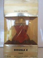 DOUBLE X EAU DE TOILETTE SPRAY 3.3 OZ BOXED SEE DETAILS