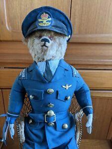Flying Officer Reggie Teddy Bear - wearing Royal Australian Air Force...