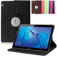 360°Huawei MediaPad T3 10 Schutz Hülle Kunst-Leder Smart Cover Case Etui+Pen-N
