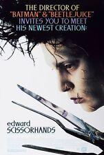 Edward Scissorhands Original 27 X 40 Theatrical Movie Poster