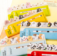 8 in 1 Cute Animal Sticker Post  Bookmark Marker Memo Index Tab Sticky Notes