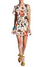Alice + Olivia  Ara SILK Print Fit and Flar Dress Size 4 Rare Cute  NWT $348