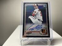 2020 Bowman Draft Carter Baumler Black Auto /75, Baltimore Orioles ROOKIE